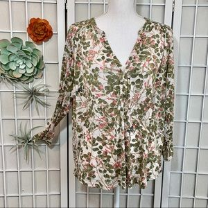 H&M Floral Butterfly Blouse